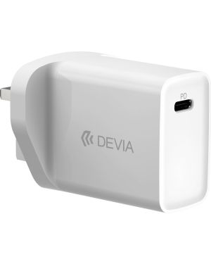 Devia - 20W Type C Power Delivery 3-Pin UK Charging Plug - White