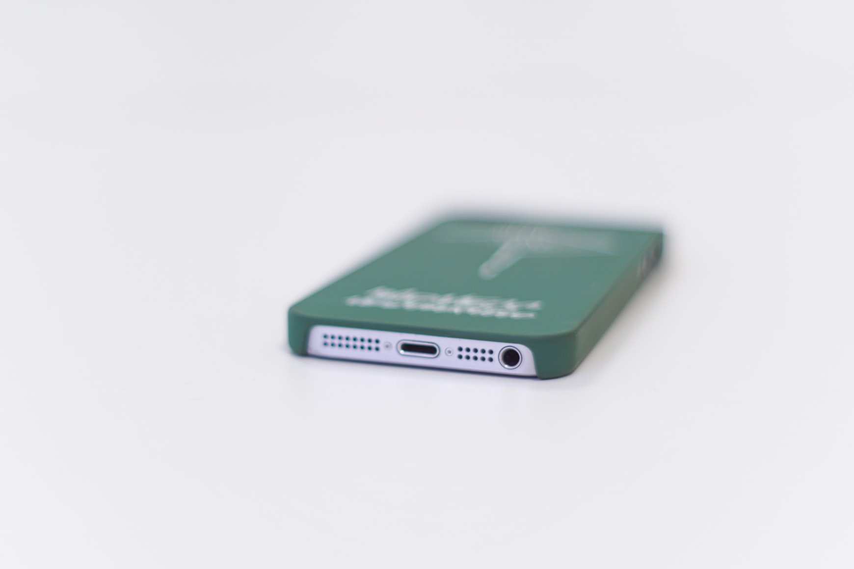 The charging port of an iPhone